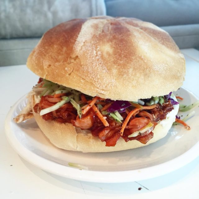 Pulled jackfruit sammy takes two seconds to make Empty ahellip